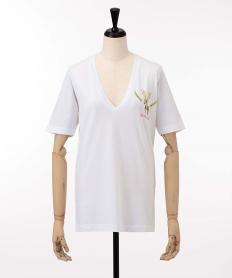 【Dsquared2】 トナカイプリントVネック Tシャツ【送料無料】