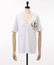 【Dsquared2】 木こりプリントVネック Tシャツ【送料無料】