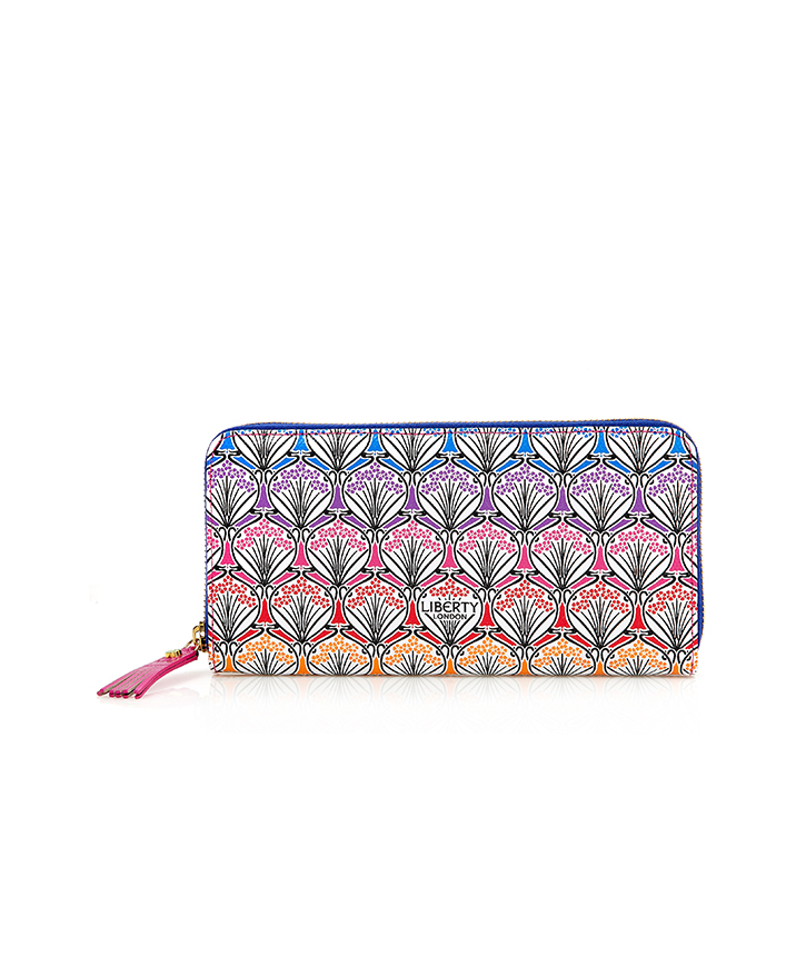 【LIBERTY LONDON】 RAINBOW LONG ZIP AROUND WALLET